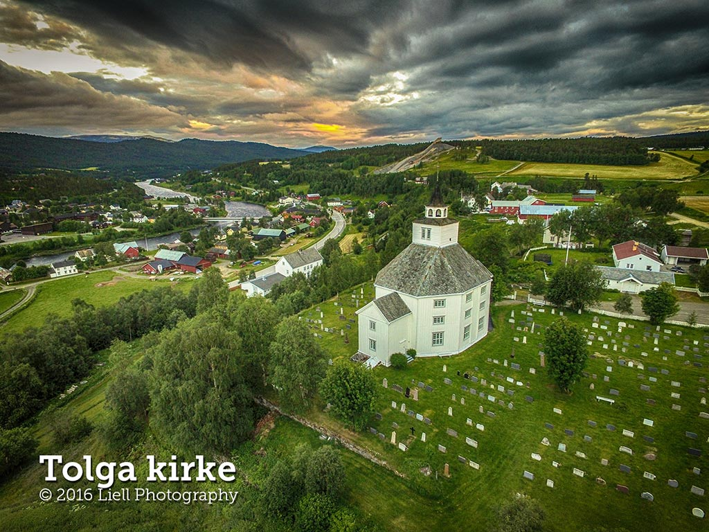 Drone photo Tolga Church, Norway